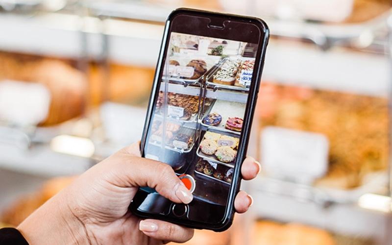 smartphone recording a video